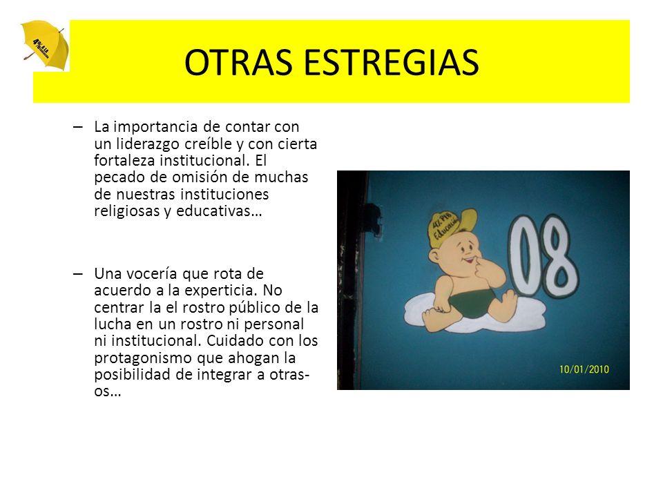 OTRAS ESTREGIAS