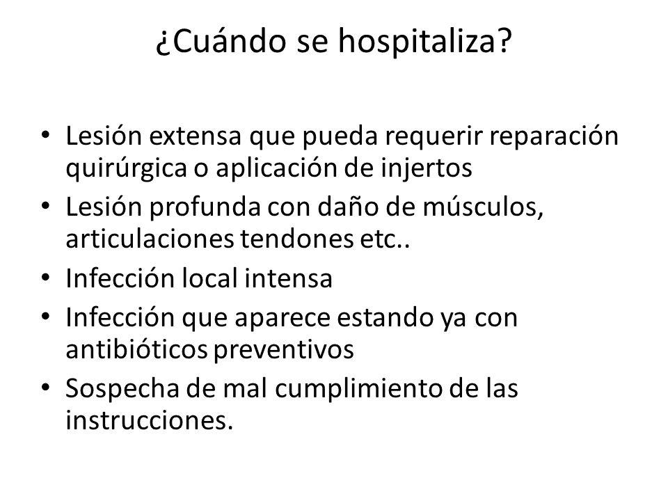 ¿Cuándo se hospitaliza