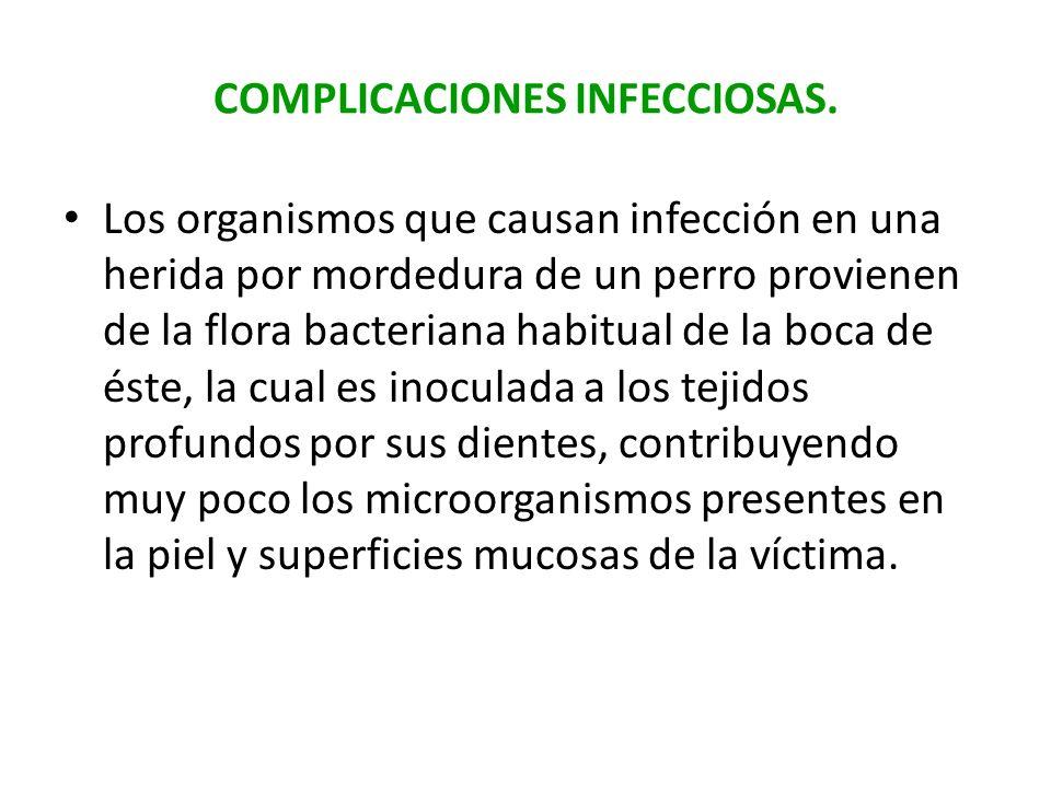 COMPLICACIONES INFECCIOSAS.