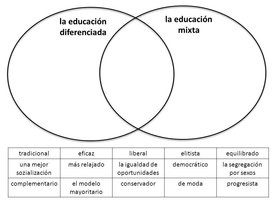 la educación diferenciada
