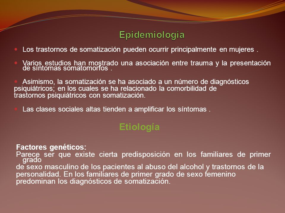 Epidemiología Etiología