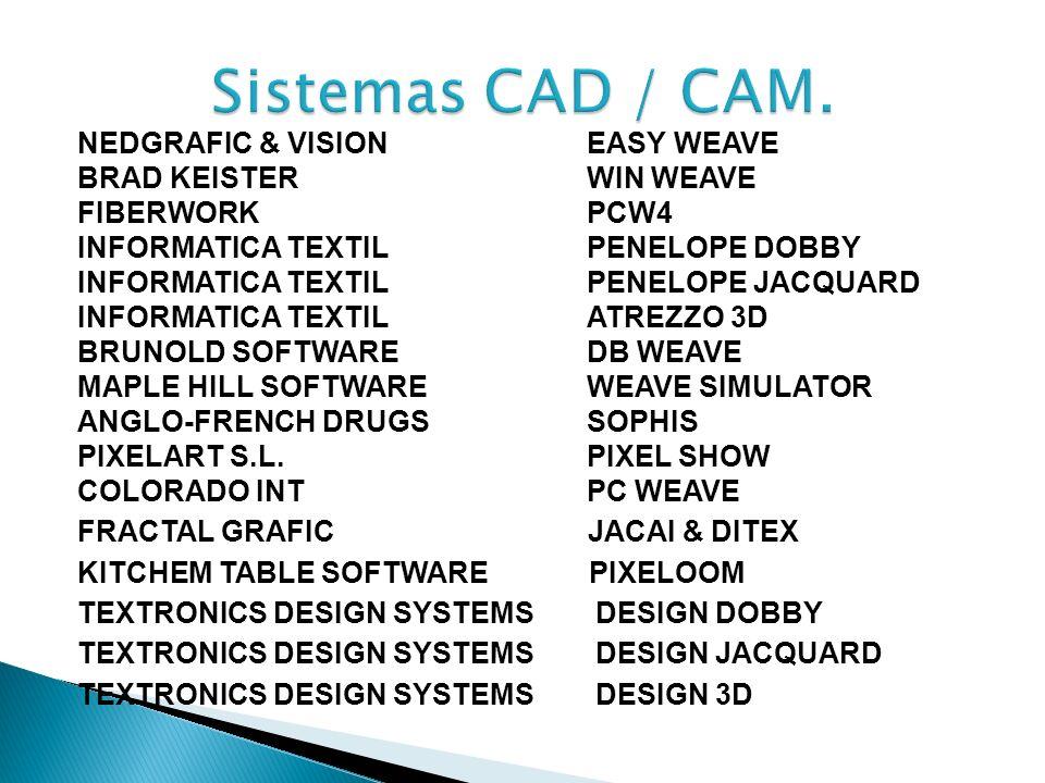 Sistemas CAD / CAM. NEDGRAFIC & VISION EASY WEAVE