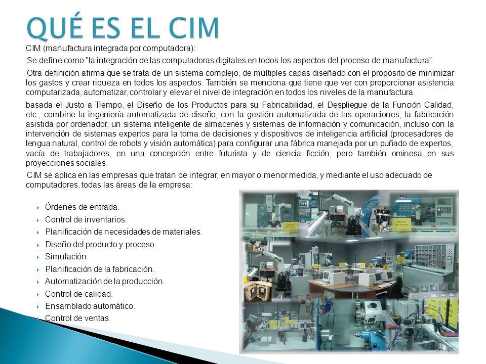 QUÉ ES EL CIM CIM (manufactura integrada por computadora):