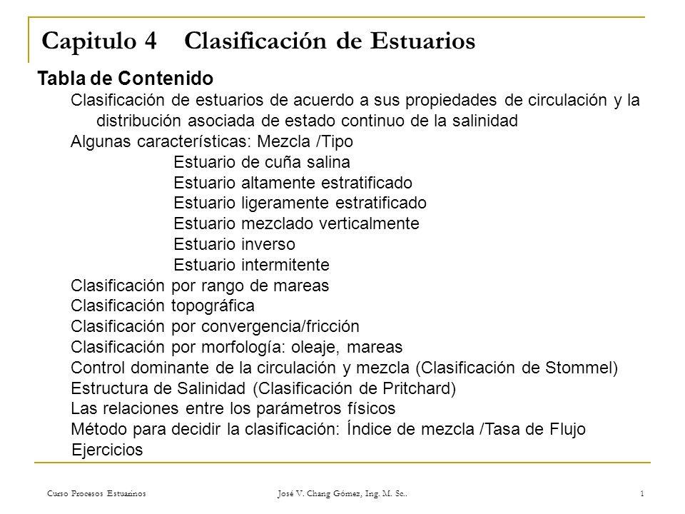 Capitulo 4 Clasificación de Estuarios