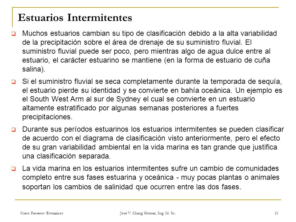 Estuarios Intermitentes