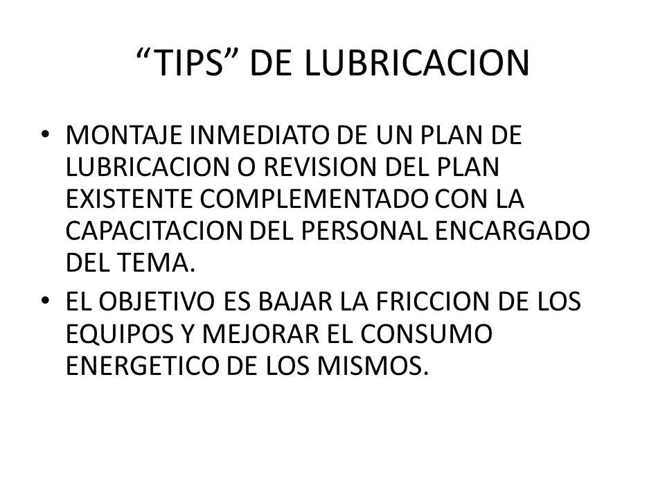 TIPS DE LUBRICACION