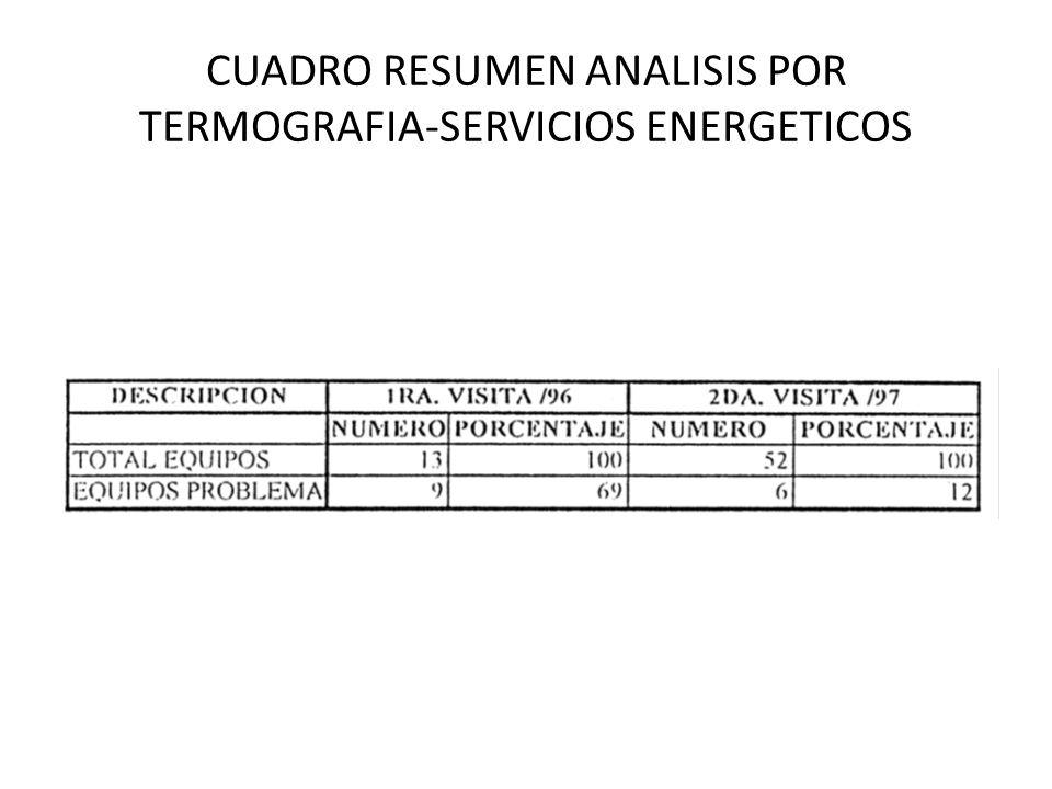 CUADRO RESUMEN ANALISIS POR TERMOGRAFIA-SERVICIOS ENERGETICOS
