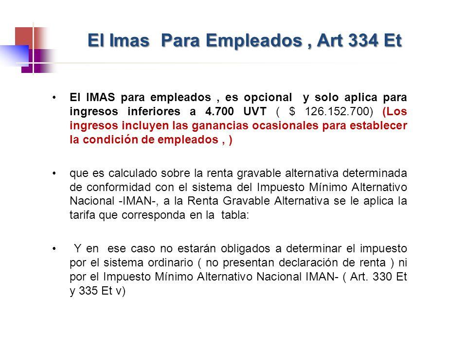El Imas Para Empleados , Art 334 Et