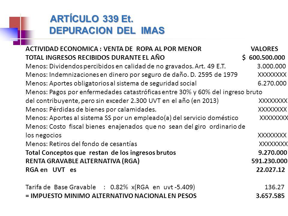 DEPURACION DEL IMAS ARTÍCULO 339 Et.