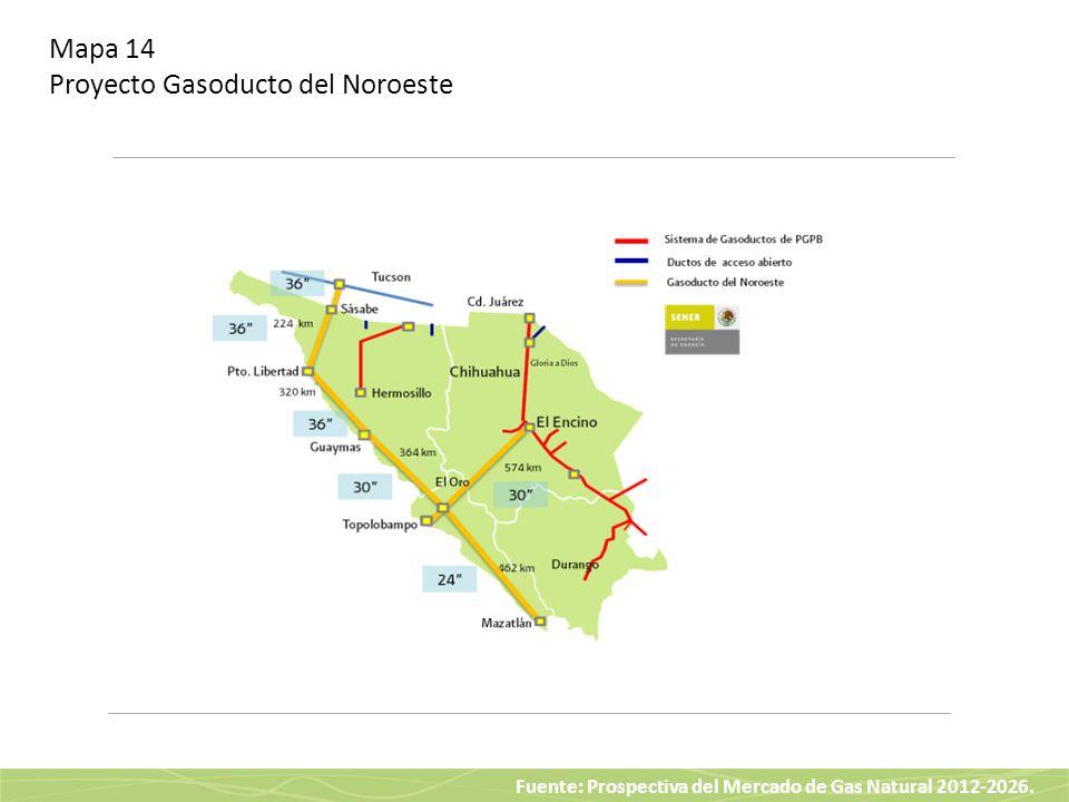 Mapa 14 Proyecto Gasoducto del Noroeste