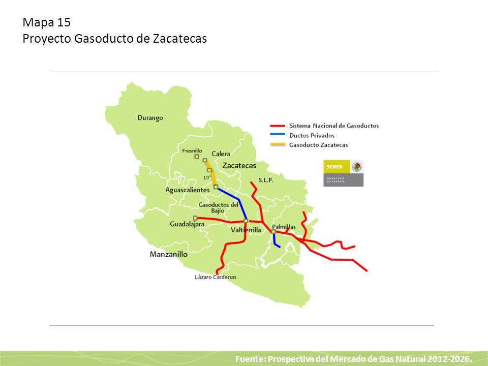 Mapa 15 Proyecto Gasoducto de Zacatecas