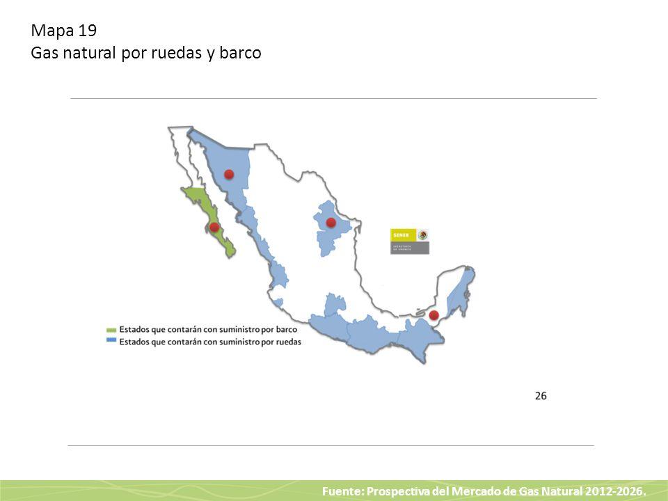 Mapa 19 Gas natural por ruedas y barco