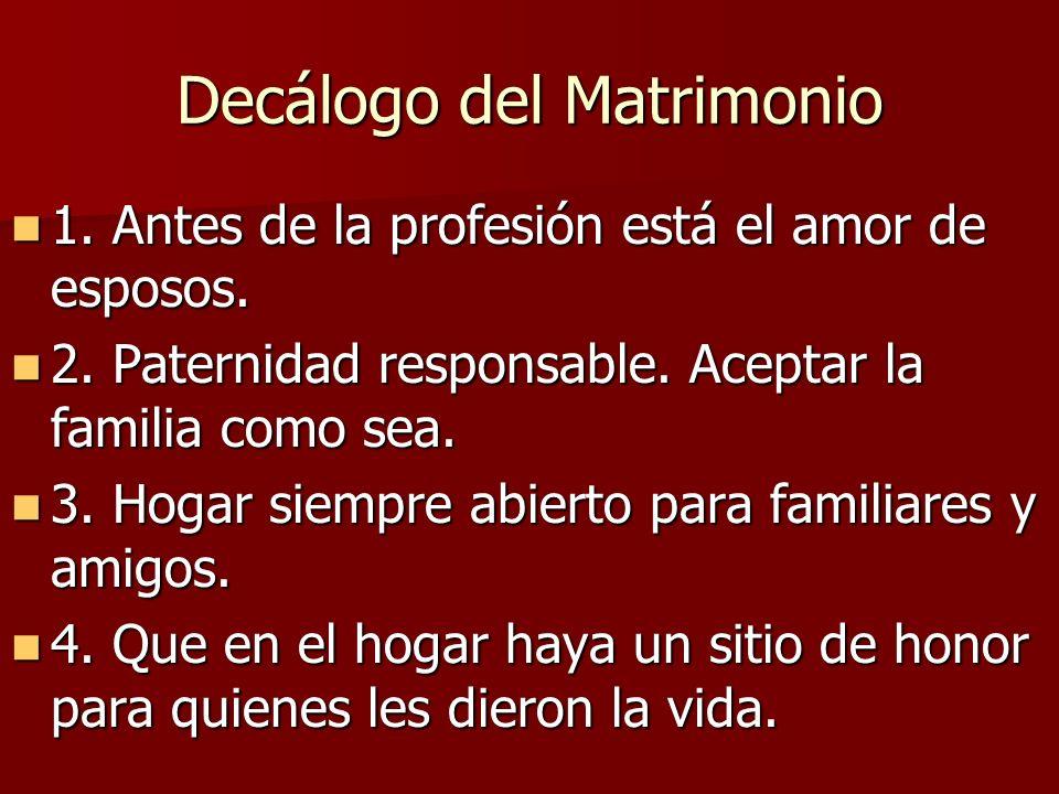 Decálogo del Matrimonio