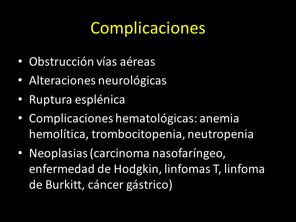 Complicaciones Obstrucción vías aéreas Alteraciones neurológicas