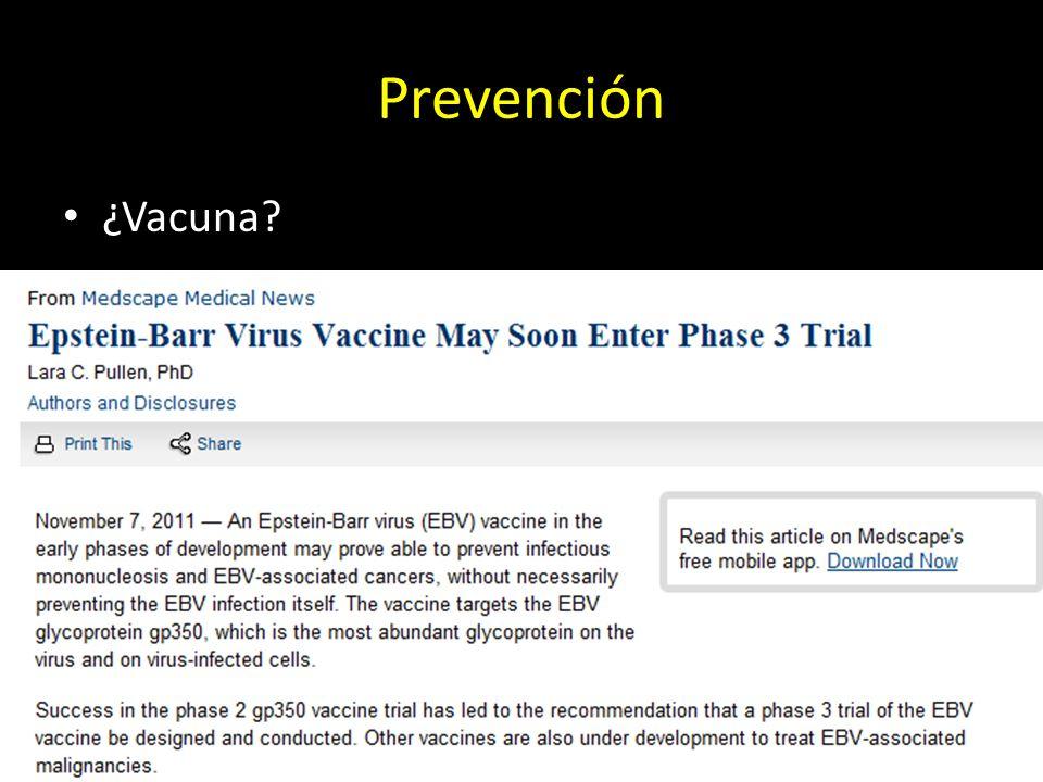 Prevención ¿Vacuna