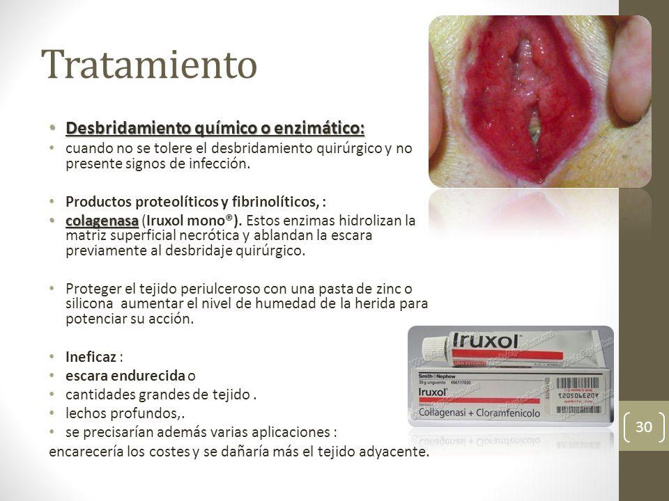 Tratamiento Desbridamiento químico o enzimático: