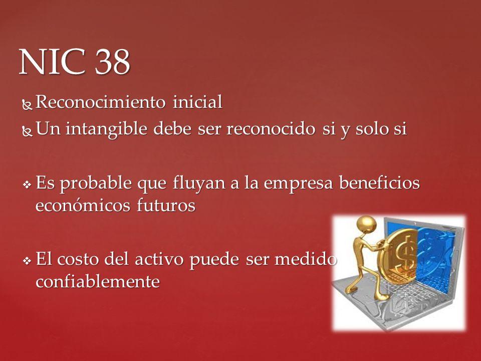 NIC 38 Reconocimiento inicial