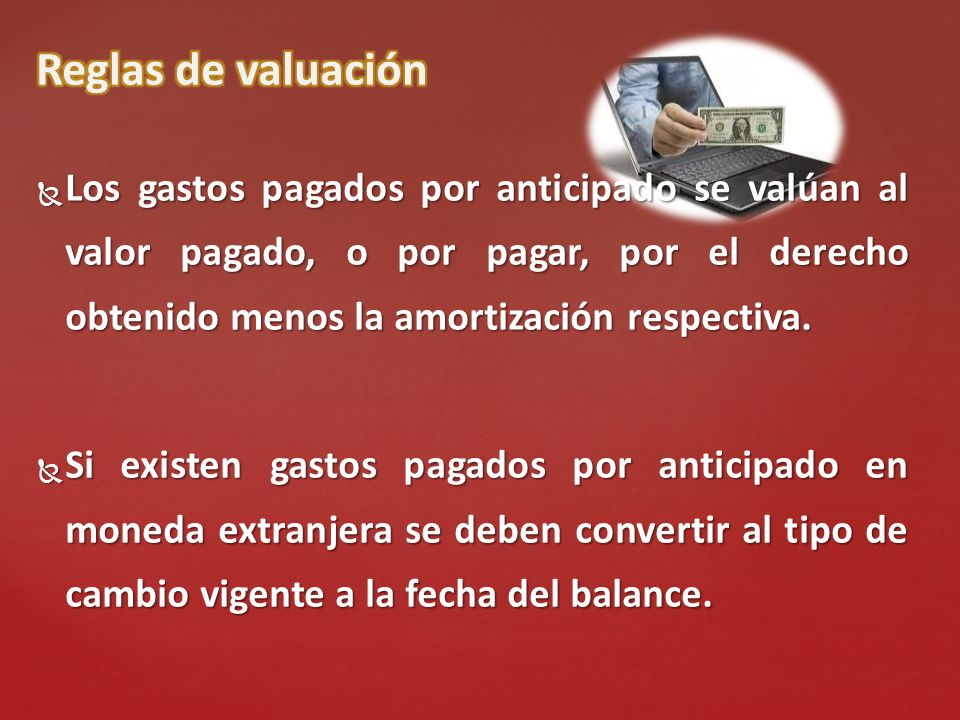 Reglas de valuación