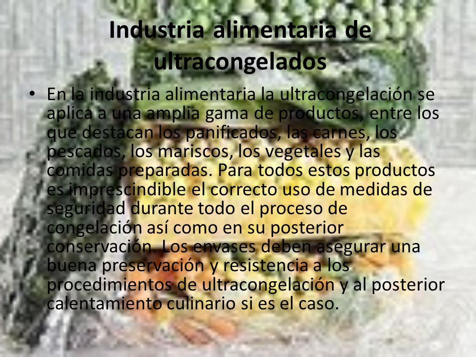 Industria alimentaria de ultracongelados