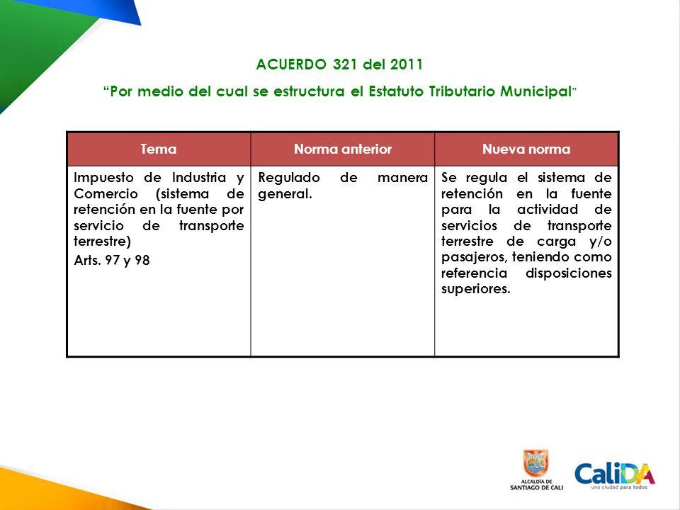 Por medio del cual se estructura el Estatuto Tributario Municipal