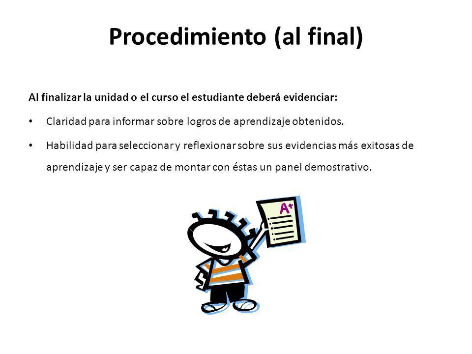 Procedimiento (al final)