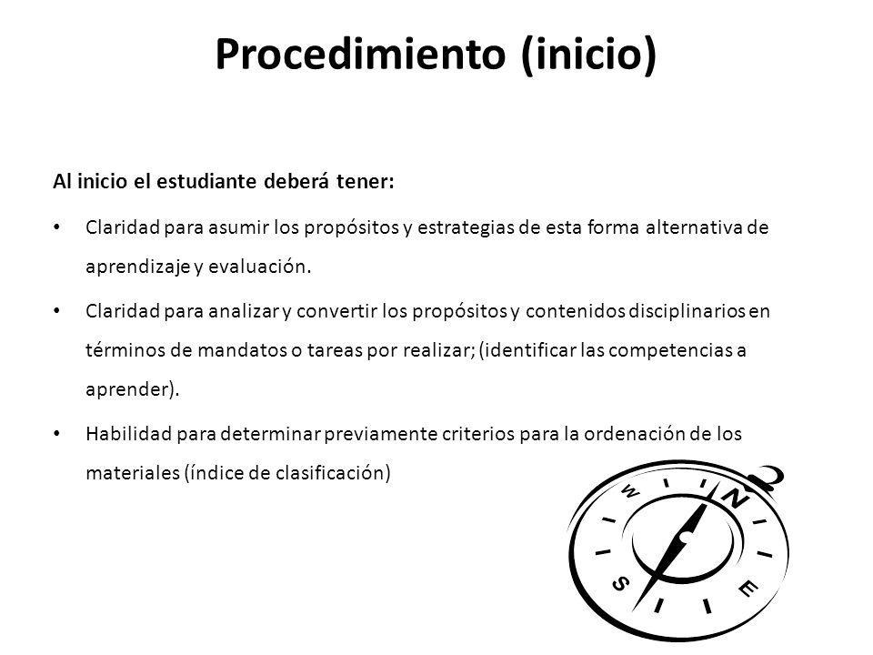 Procedimiento (inicio)