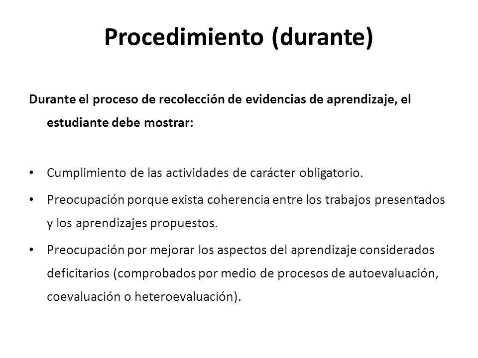Procedimiento (durante)