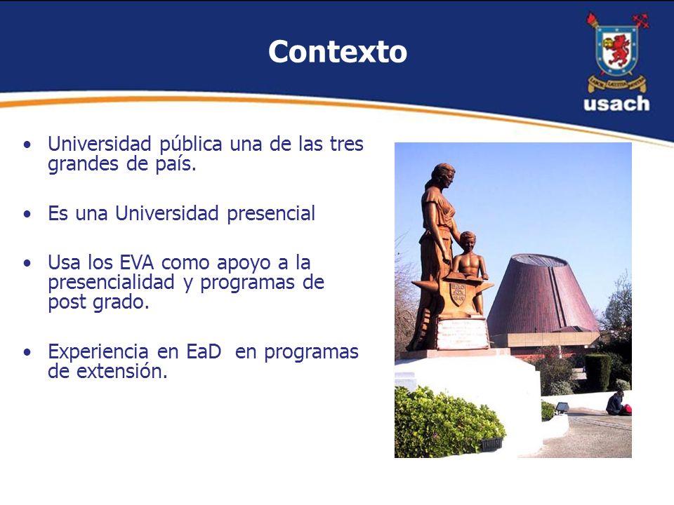 Contexto Universidad pública una de las tres grandes de país.