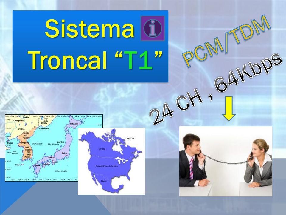 Sistema Troncal T1 PCM/TDM 24 CH , 64Kbps
