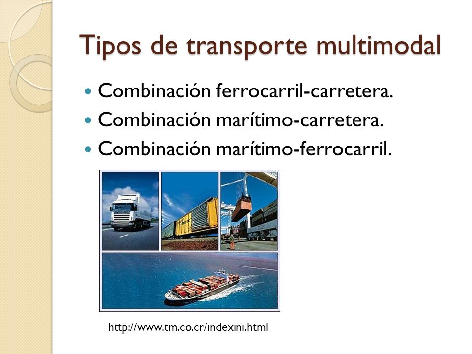 Tipos de transporte multimodal