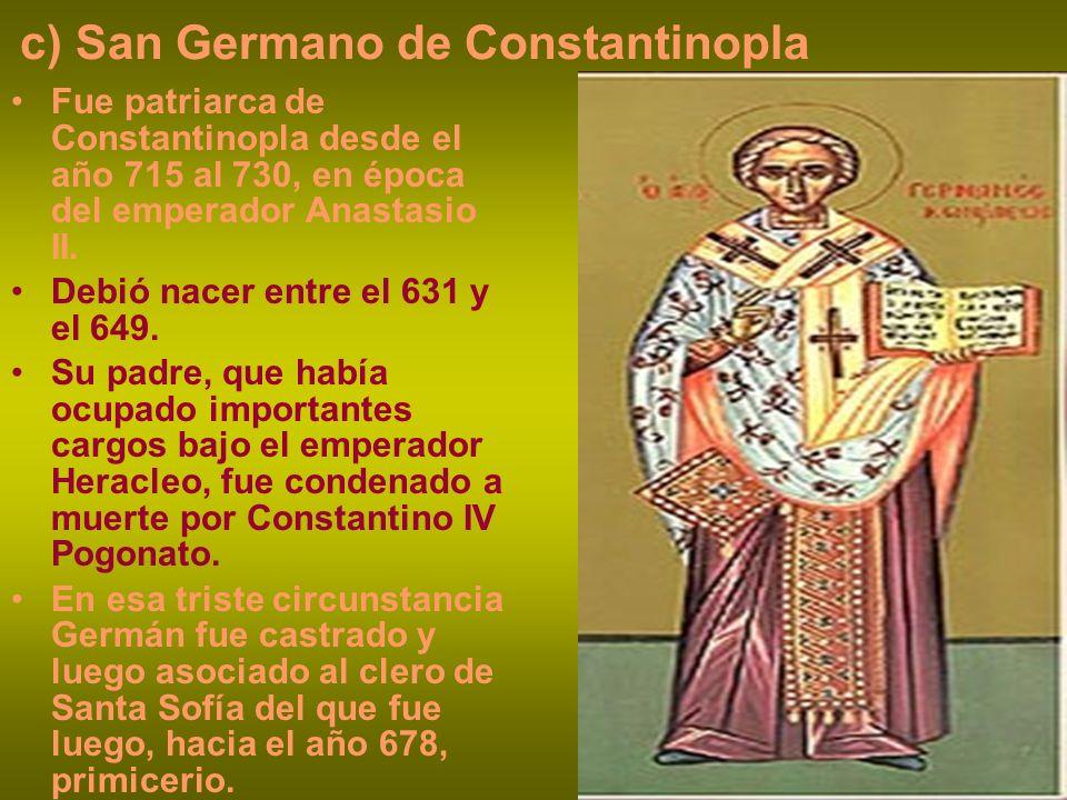 c) San Germano de Constantinopla