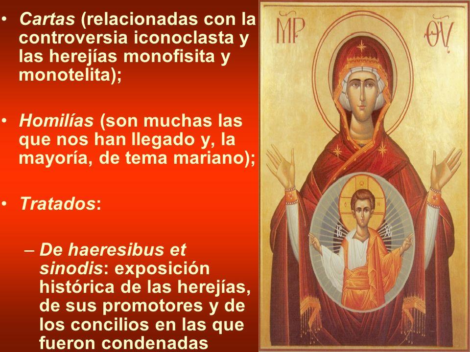 Cartas (relacionadas con la controversia iconoclasta y las herejías monofisita y monotelita);