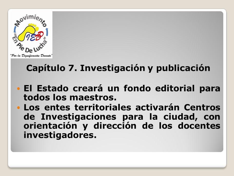 Capítulo 7. Investigación y publicación