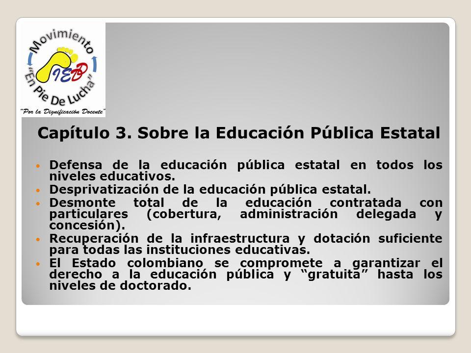 Capítulo 3. Sobre la Educación Pública Estatal