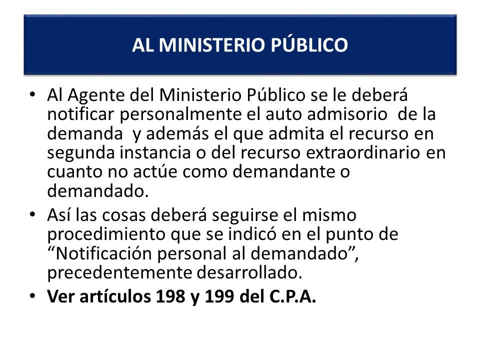 AL MINISTERIO PÚBLICO