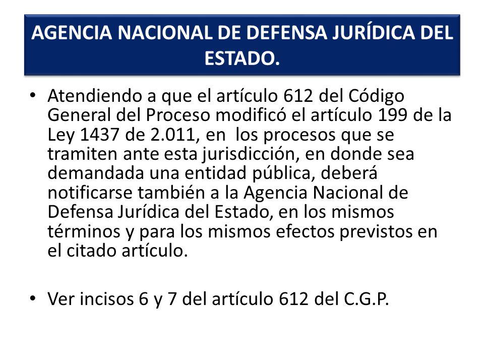 AGENCIA NACIONAL DE DEFENSA JURÍDICA DEL ESTADO.