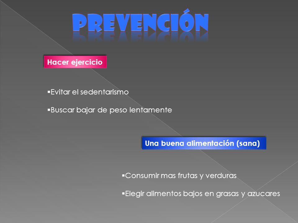 prevención Hacer ejercicio Evitar el sedentarismo
