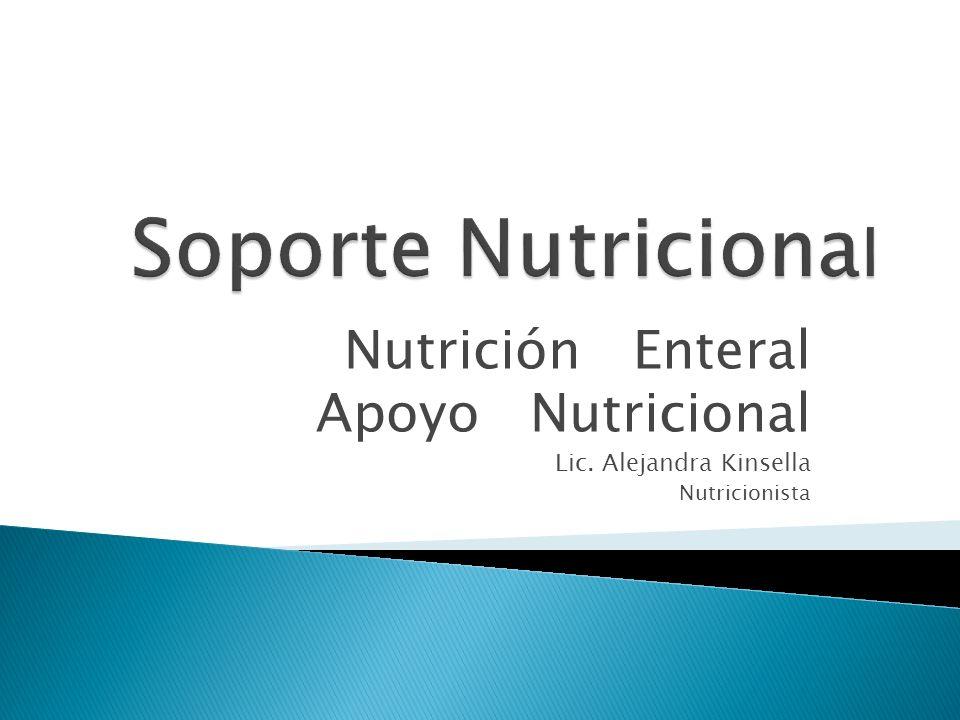 Soporte Nutricional Nutrición Enteral Apoyo Nutricional