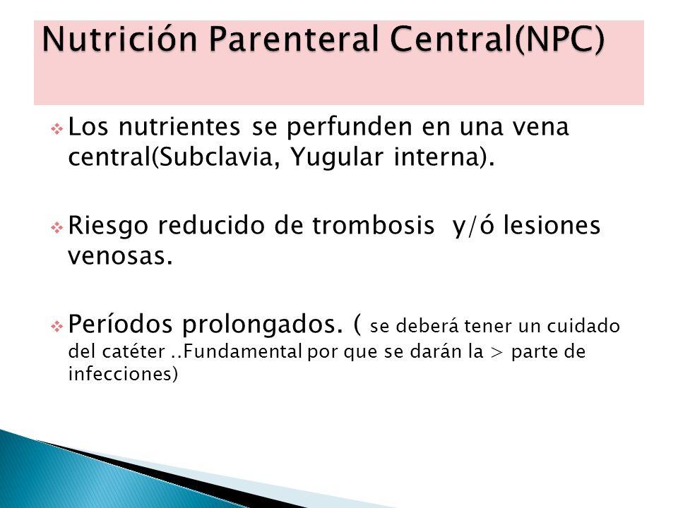 Nutrición Parenteral Central(NPC)