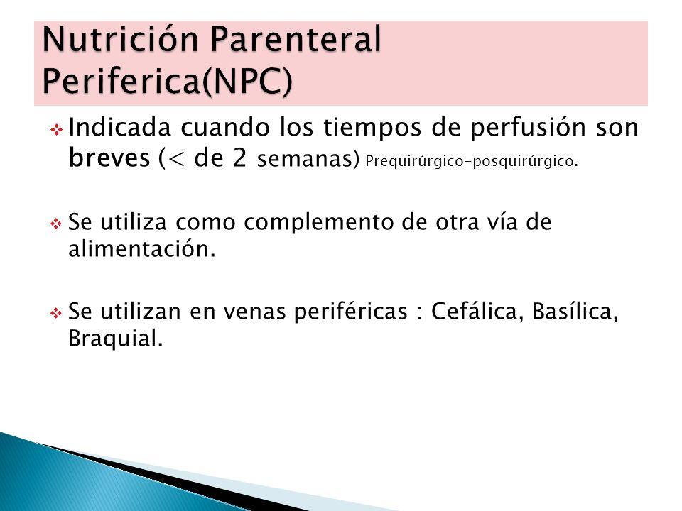 Nutrición Parenteral Periferica(NPC)