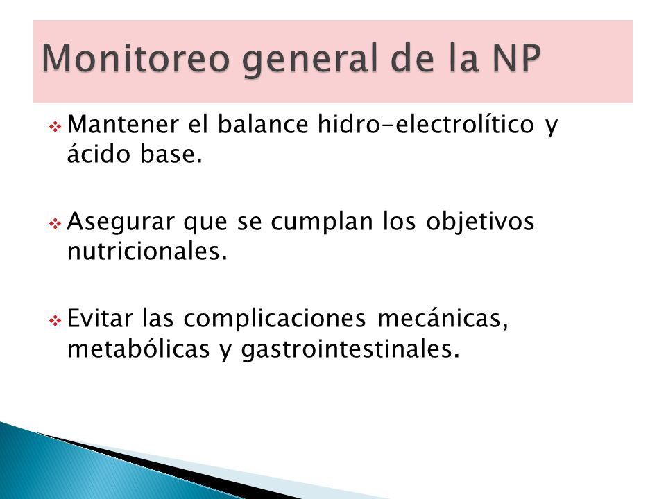 Monitoreo general de la NP