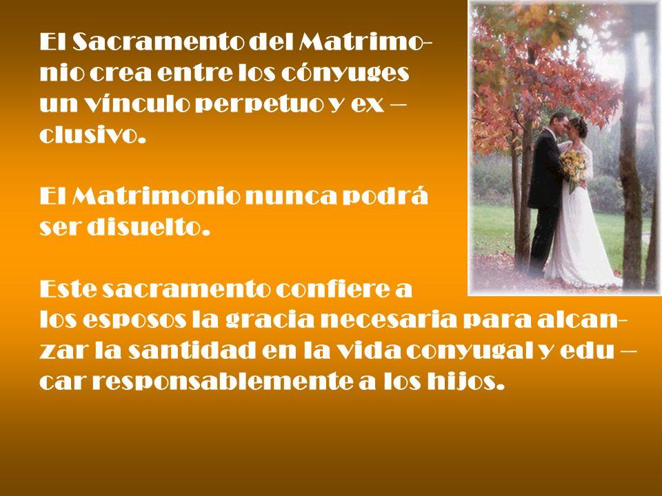 El Sacramento del Matrimo-