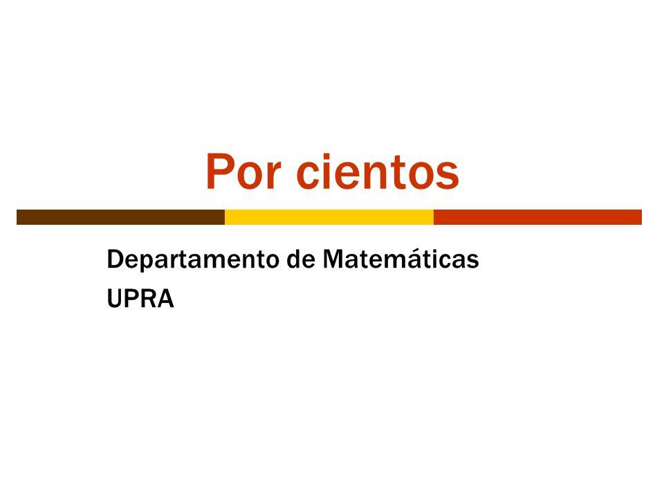 Departamento de Matemáticas UPRA
