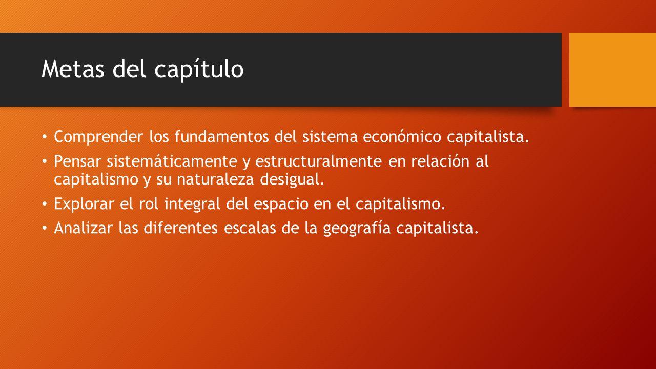 Metas del capítulo Comprender los fundamentos del sistema económico capitalista.