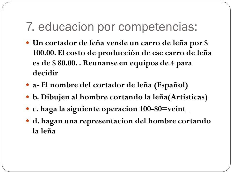 7. educacion por competencias: