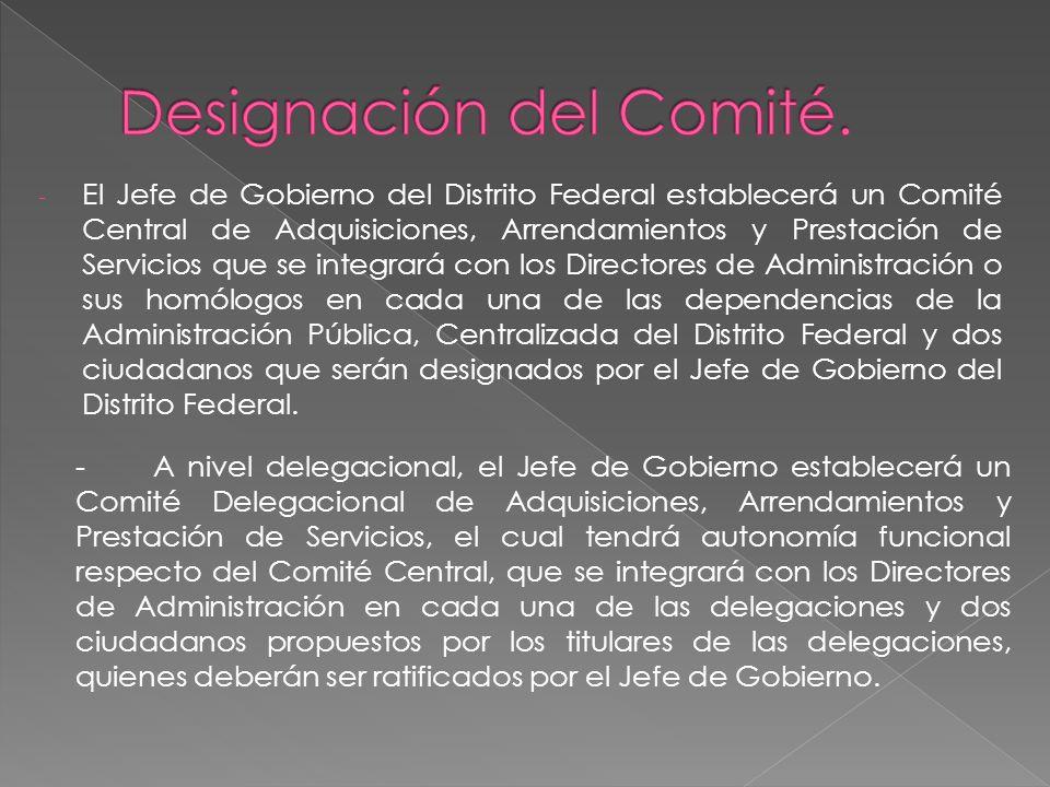 Designación del Comité.