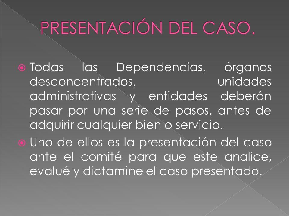 PRESENTACIÓN DEL CASO.