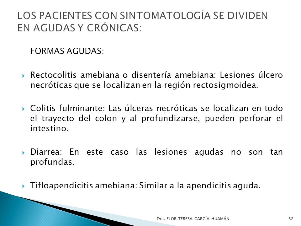 LOS PACIENTES CON SINTOMATOLOGÍA SE DIVIDEN EN AGUDAS Y CRÓNICAS: