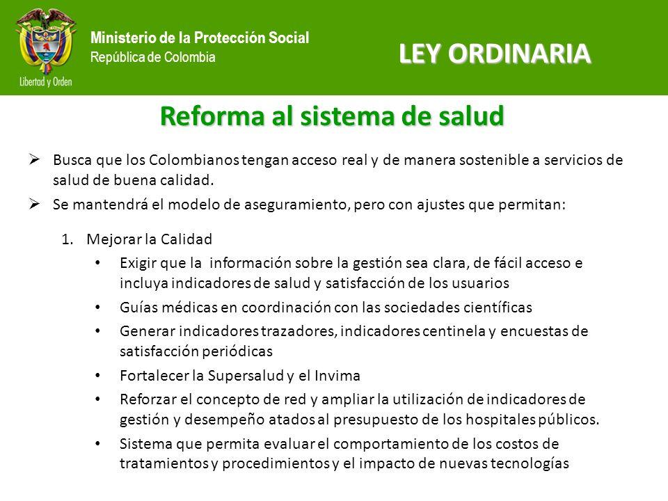 Reforma al sistema de salud