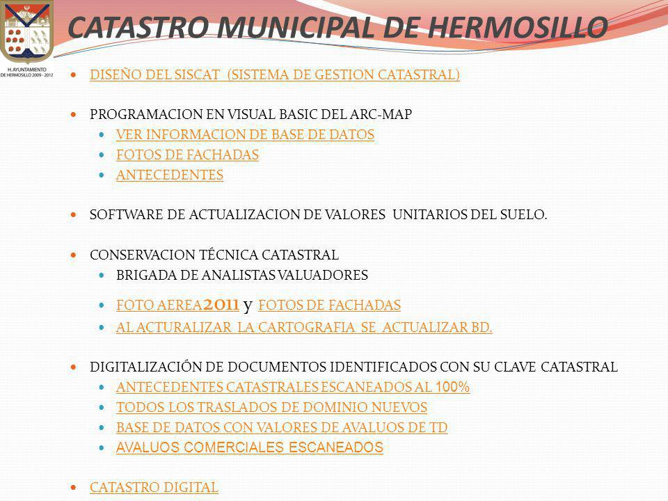 CATASTRO MUNICIPAL DE HERMOSILLO
